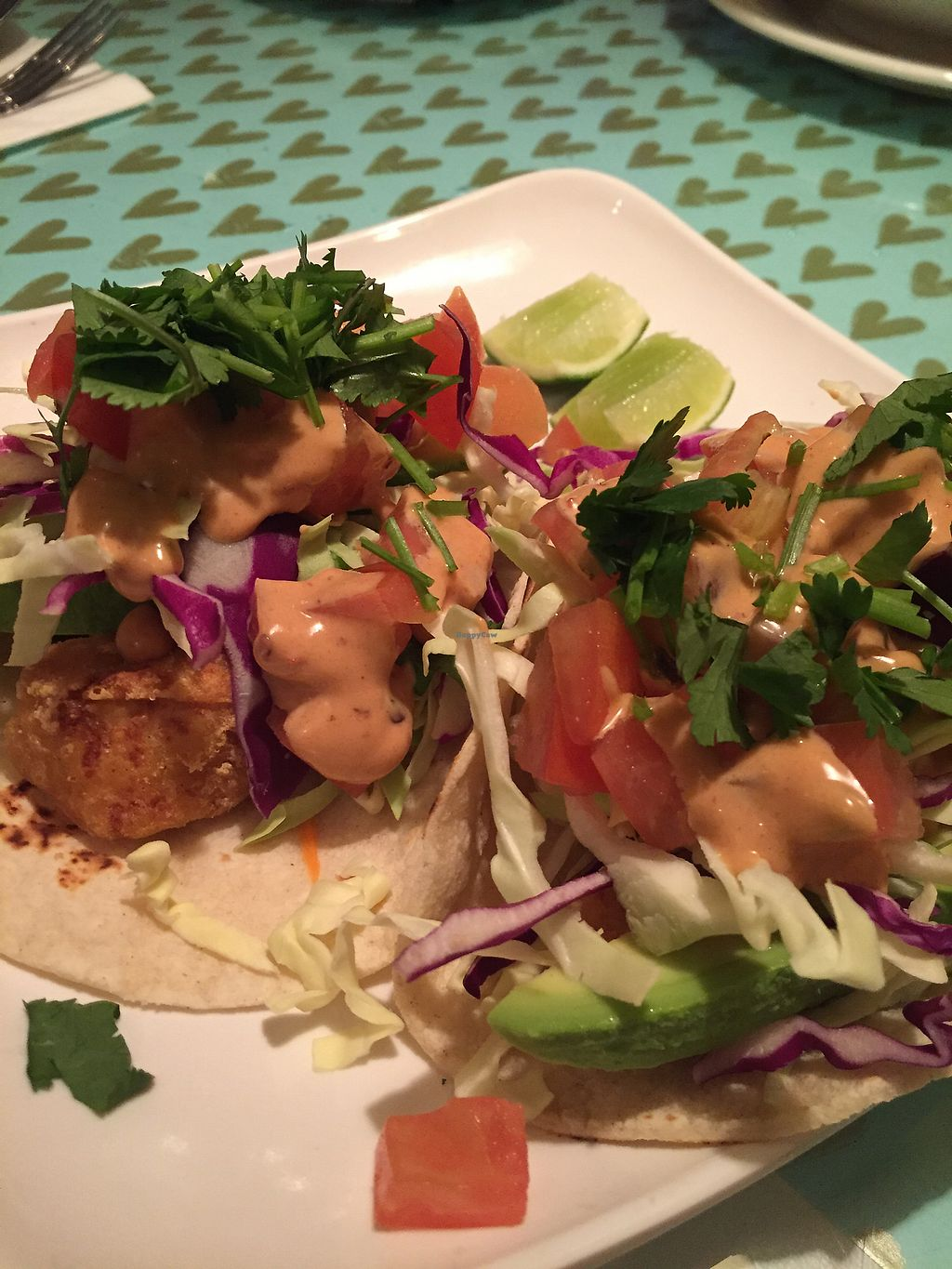 """Photo of Loving Hut - Mira Mesa  by <a href=""""/members/profile/heathenvegan"""">heathenvegan</a> <br/>Ocean fillet tacos <br/> January 14, 2018  - <a href='/contact/abuse/image/25532/346346'>Report</a>"""