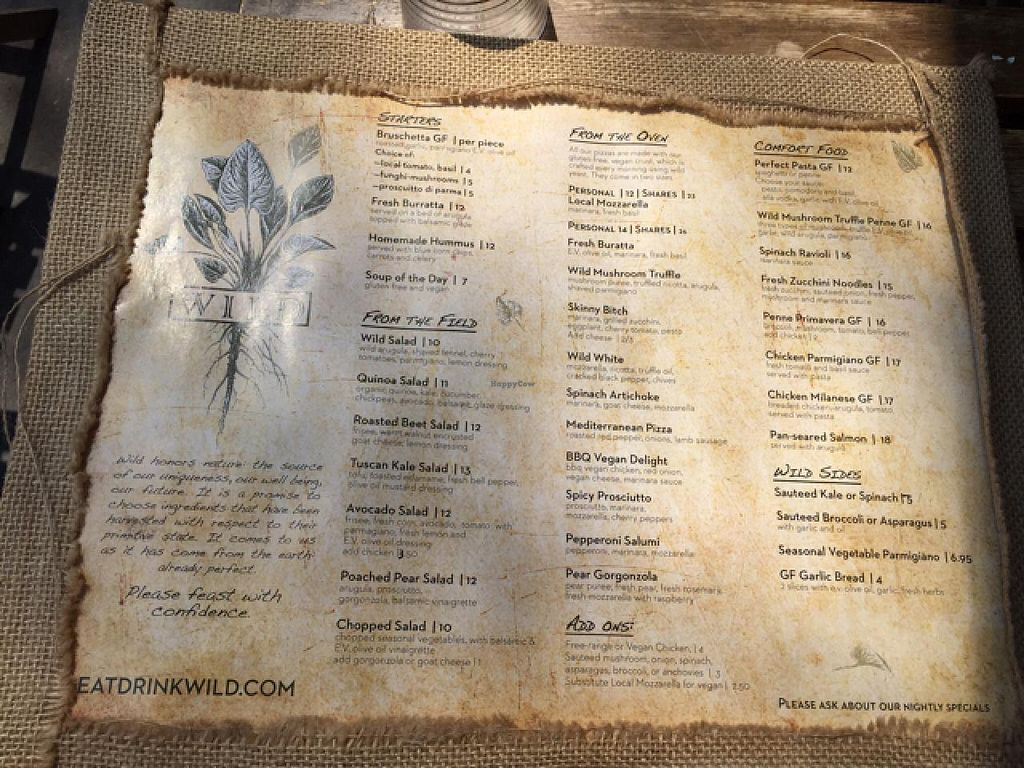 """Photo of Eat Drink Wild  by <a href=""""/members/profile/HappyHeart"""">HappyHeart</a> <br/>wild menu <br/> May 4, 2015  - <a href='/contact/abuse/image/25568/101210'>Report</a>"""