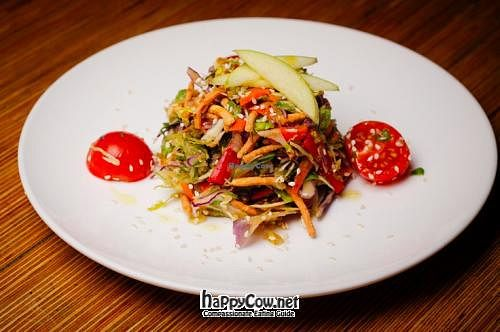"""Photo of Eat Drink Wild  by <a href=""""/members/profile/VegPizzaLover"""">VegPizzaLover</a> <br/>Asian Cabbage Salad (from Satur Farms) with homemade peanut dressing  <br/> July 11, 2012  - <a href='/contact/abuse/image/25568/34330'>Report</a>"""