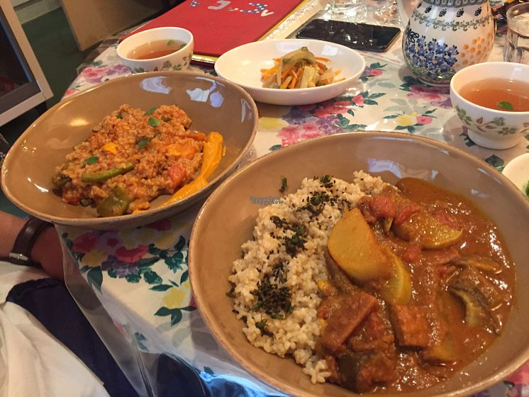 """Photo of CLOSED: Le Coccole  by <a href=""""/members/profile/TaraMurray"""">TaraMurray</a> <br/>curry and risotto  <br/> October 16, 2016  - <a href='/contact/abuse/image/25584/182302'>Report</a>"""