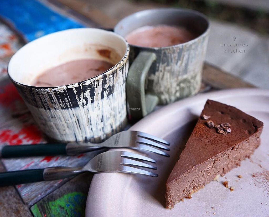 """Photo of CLOSED: Le Coccole  by <a href=""""/members/profile/EmmaCebuliak"""">EmmaCebuliak</a> <br/>Vegan chocolate mouse cake and soy hot chocolates <br/> January 17, 2017  - <a href='/contact/abuse/image/25584/212833'>Report</a>"""