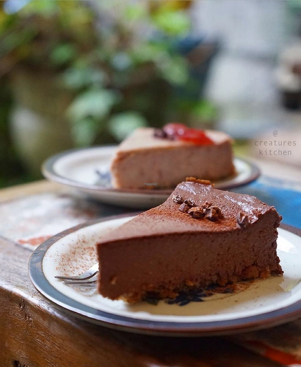 """Photo of CLOSED: Le Coccole  by <a href=""""/members/profile/EmmaCebuliak"""">EmmaCebuliak</a> <br/>Vegan chocolate mouse cake and strawberry cheese cake.  <br/> February 7, 2017  - <a href='/contact/abuse/image/25584/223962'>Report</a>"""
