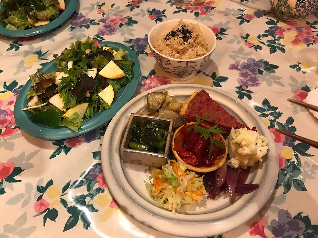 """Photo of CLOSED: Le Coccole  by <a href=""""/members/profile/ErikvanHest"""">ErikvanHest</a> <br/>Set with salad, brown rice and small delicious portions of Japanese food <br/> October 7, 2017  - <a href='/contact/abuse/image/25584/312578'>Report</a>"""