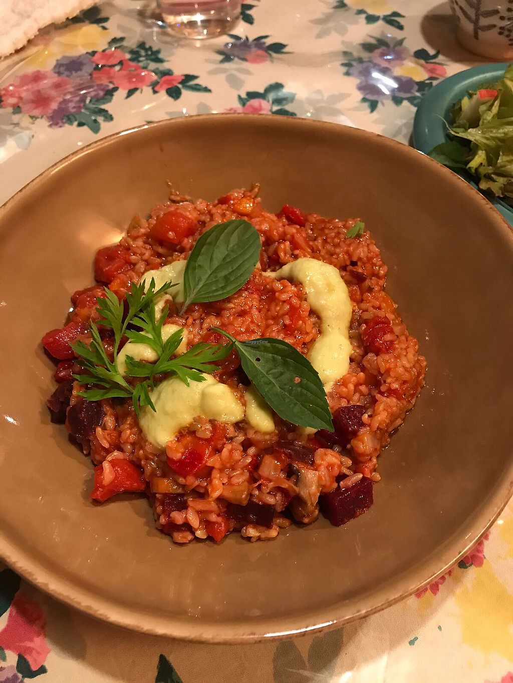 """Photo of CLOSED: Le Coccole  by <a href=""""/members/profile/ErikvanHest"""">ErikvanHest</a> <br/>Vegan risotto with tomato and zuchini <br/> October 7, 2017  - <a href='/contact/abuse/image/25584/312579'>Report</a>"""
