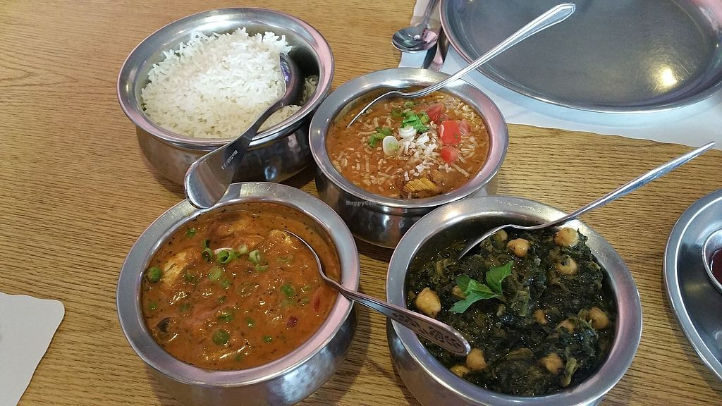 """Photo of Nepal Restaurant  by <a href=""""/members/profile/Julievida"""">Julievida</a> <br/>Malai Kofta Mushroom Matter Saag with chickpeas <br/> September 24, 2017  - <a href='/contact/abuse/image/25595/307919'>Report</a>"""