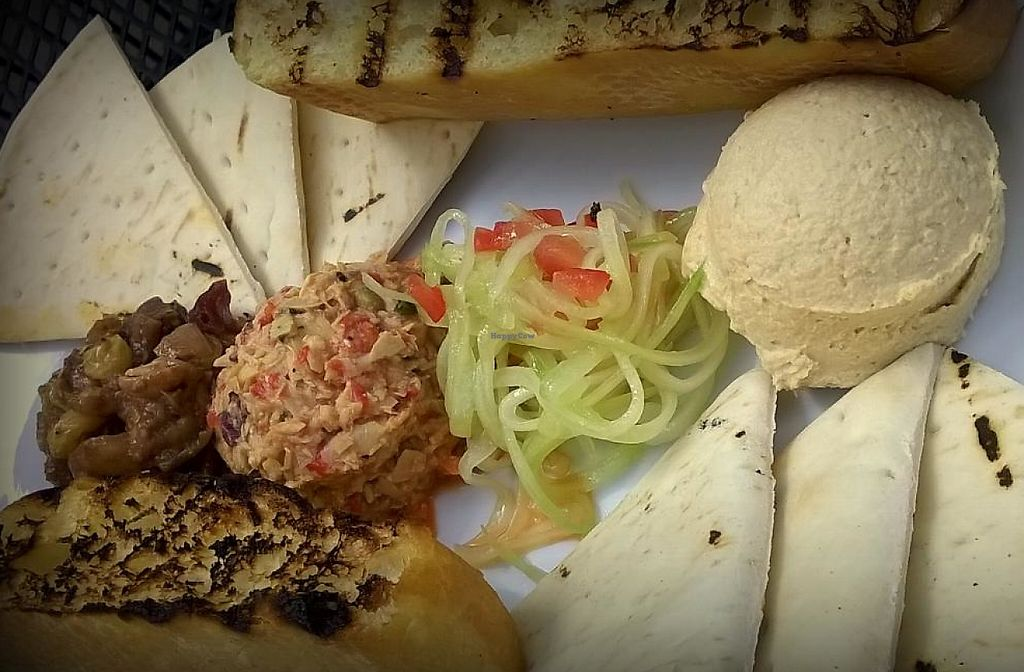 Photo of Oasis Cafe  by Navegante <br/>Vegan tasting plate appetizer, July 2015 <br/> July 19, 2015  - <a href='/contact/abuse/image/2562/230631'>Report</a>