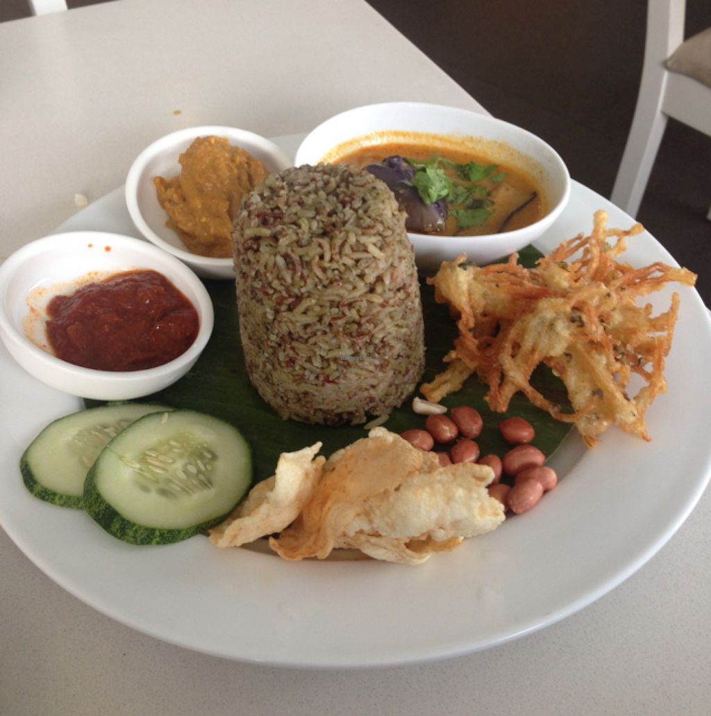 """Photo of EcoLife Kitchen  by <a href=""""/members/profile/AndyT"""">AndyT</a> <br/>Nasi Lemak - vegan <br/> August 1, 2015  - <a href='/contact/abuse/image/25633/111814'>Report</a>"""
