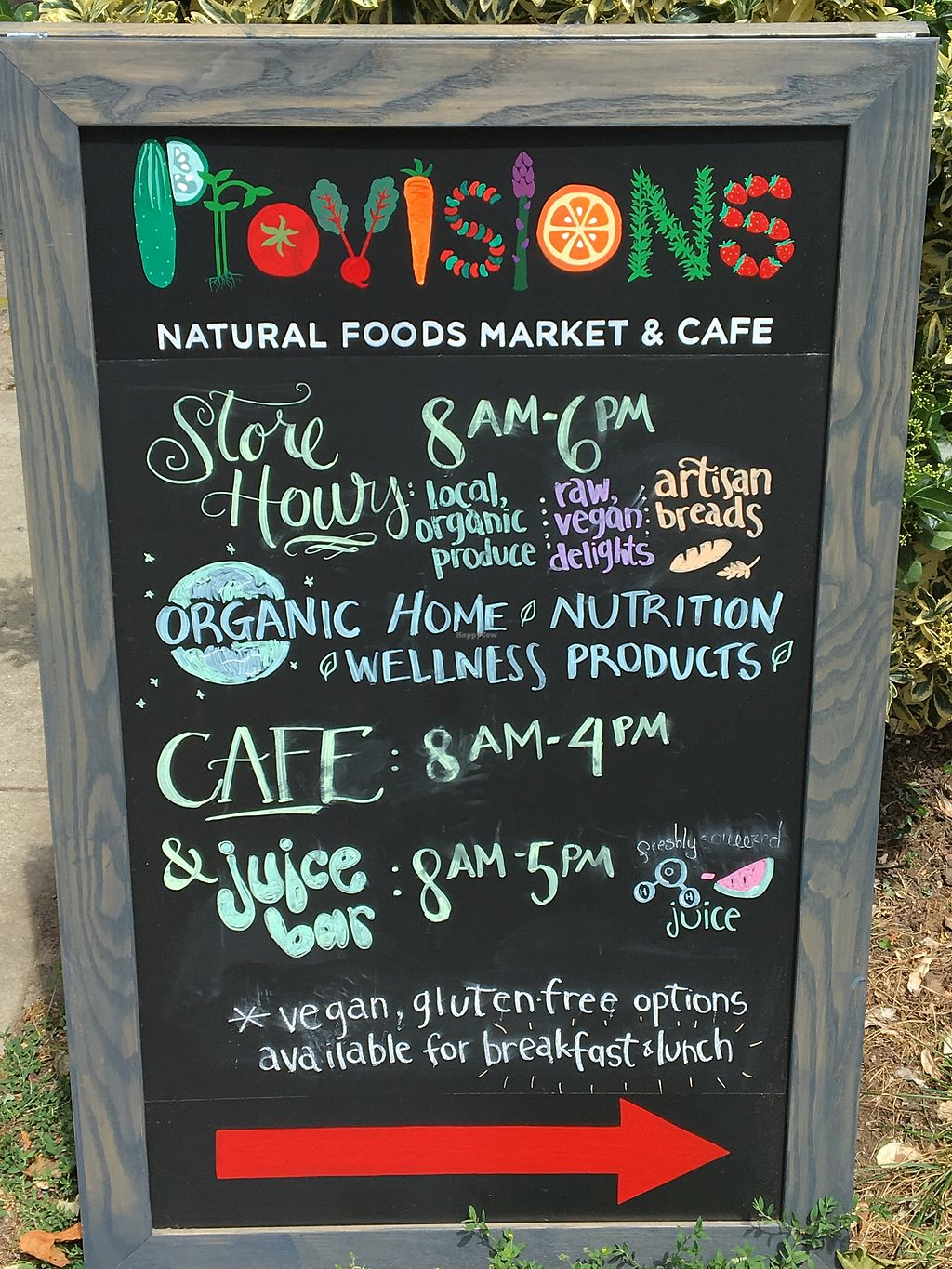 "Photo of Provisions Natural Foods Cafe  by <a href=""/members/profile/JJones315"">JJones315</a> <br/>The Board <br/> June 29, 2017  - <a href='/contact/abuse/image/25638/274920'>Report</a>"