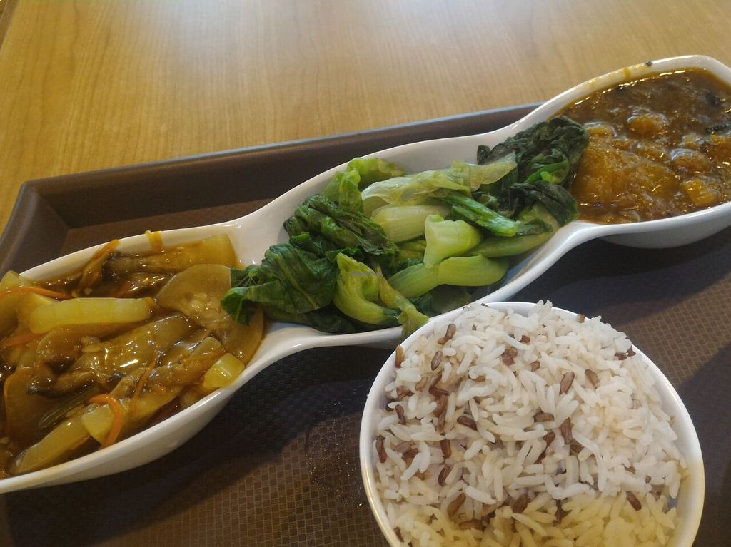 """Photo of Happy Veggies - Wanchai  by <a href=""""/members/profile/ouikouik"""">ouikouik</a> <br/>happy veggies weekday lunch set <br/> August 23, 2015  - <a href='/contact/abuse/image/25649/114824'>Report</a>"""