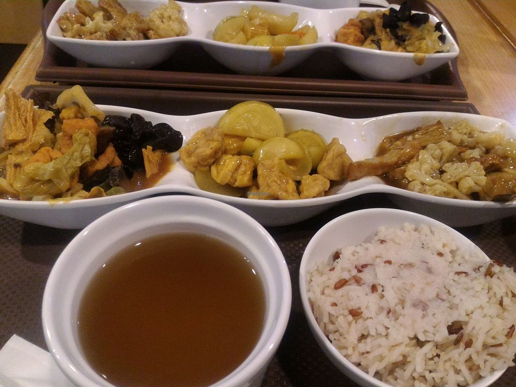 """Photo of Happy Veggies - Wanchai  by <a href=""""/members/profile/ouikouik"""">ouikouik</a> <br/>hkd45 set lunch <br/> October 13, 2015  - <a href='/contact/abuse/image/25649/121206'>Report</a>"""