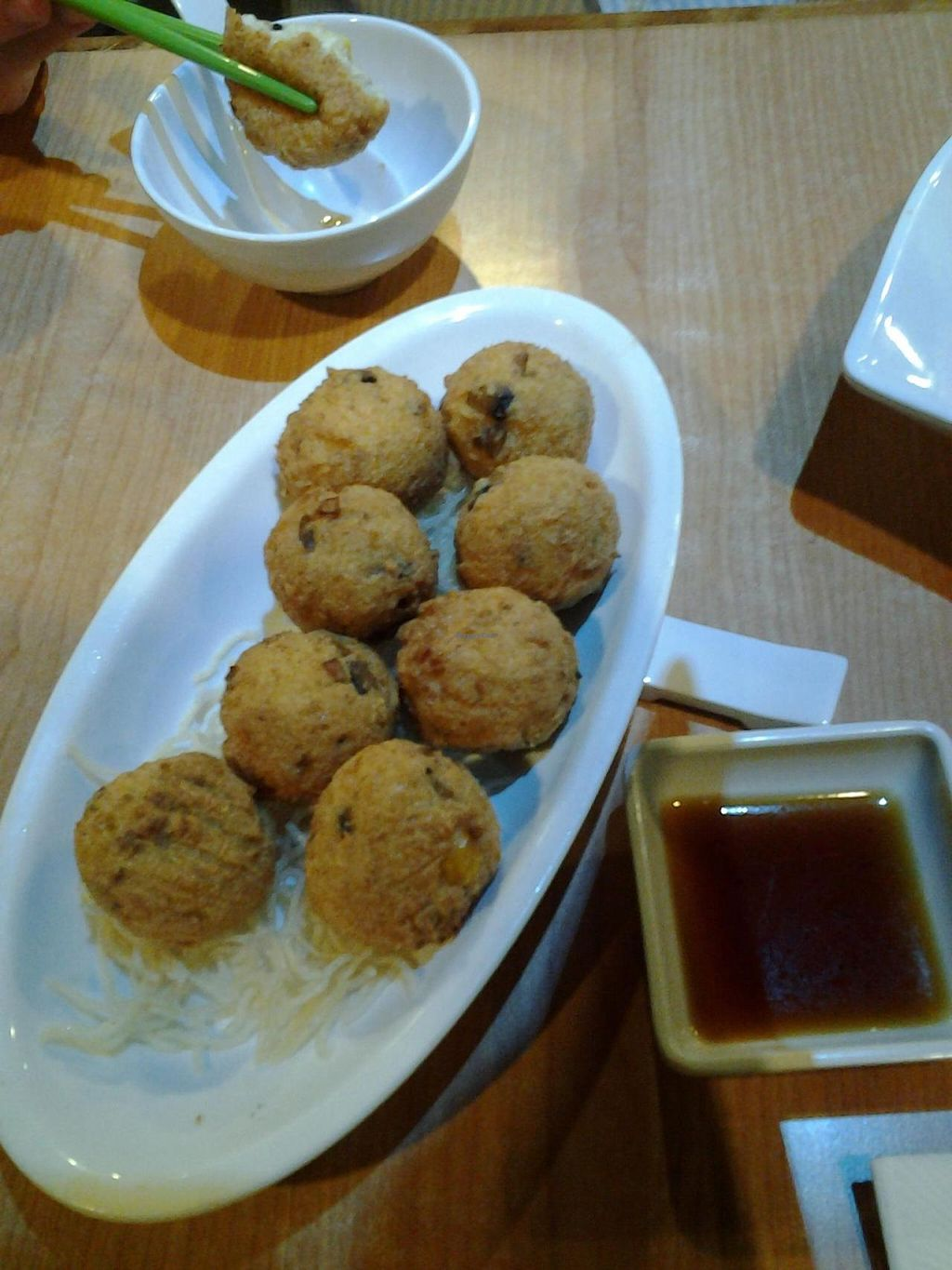 """Photo of Happy Veggies - Wanchai  by <a href=""""/members/profile/mrrfrost"""">mrrfrost</a> <br/>Salt and pepper tofu balls! <br/> October 13, 2014  - <a href='/contact/abuse/image/25649/82763'>Report</a>"""