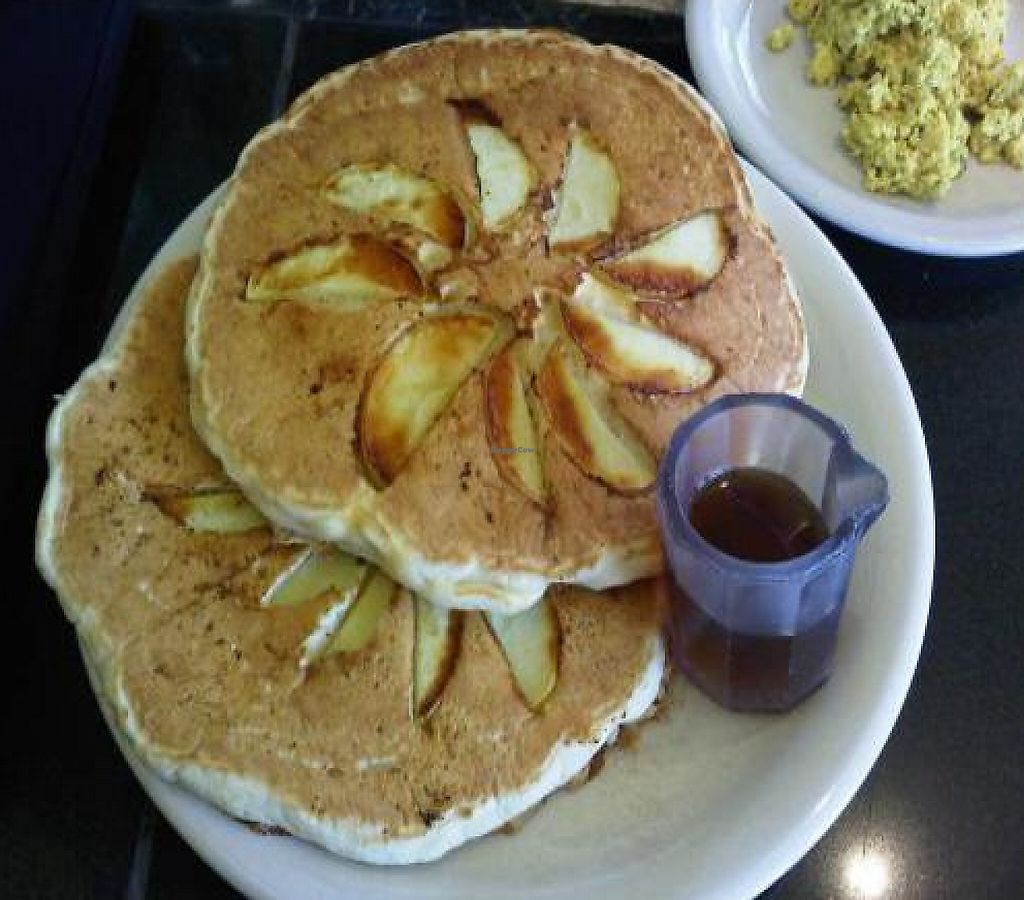 """Photo of Sage's Cafe  by <a href=""""/members/profile/Meggie%20and%20Ben"""">Meggie and Ben</a> <br/>Brunch: Walnut and apple pancakes <br/> January 19, 2012  - <a href='/contact/abuse/image/2564/219893'>Report</a>"""