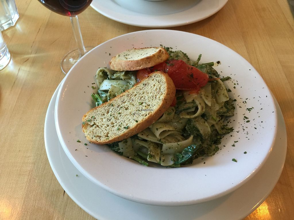 """Photo of Sage's Cafe  by <a href=""""/members/profile/michelej"""">michelej</a> <br/>Gluten free basil pesto pasta <br/> July 16, 2017  - <a href='/contact/abuse/image/2564/280805'>Report</a>"""