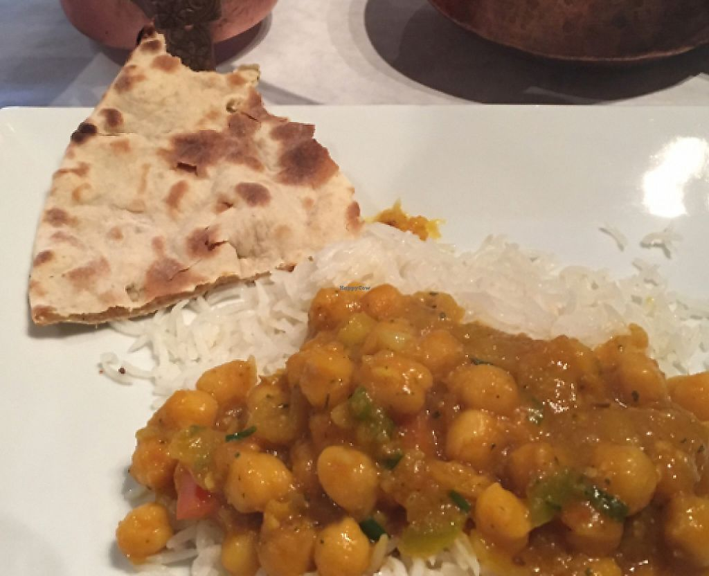 """Photo of East India Grill  by <a href=""""/members/profile/Skirol97"""">Skirol97</a> <br/>one of the vegan options with bread <br/> July 20, 2016  - <a href='/contact/abuse/image/25683/232870'>Report</a>"""