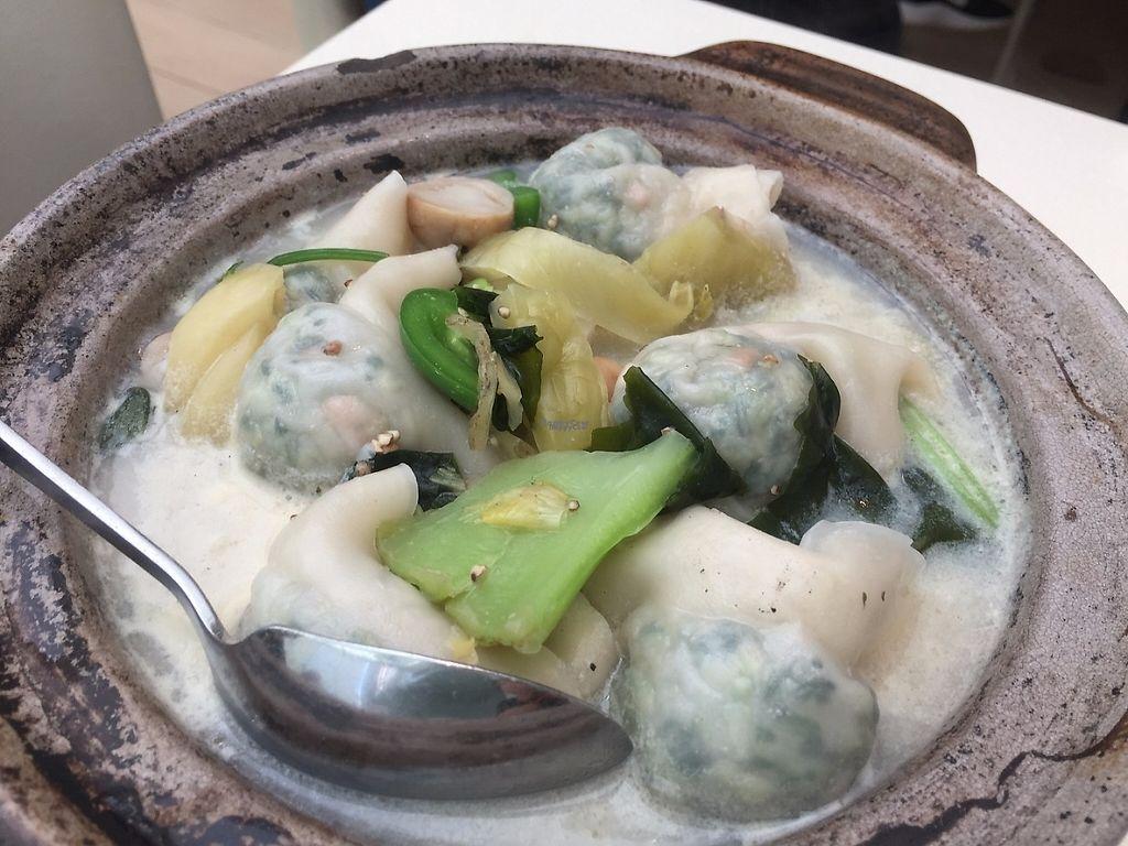 "Photo of Gaia Veggie Shop - Tsuen Wan  by <a href=""/members/profile/SamanthaIngridHo"">SamanthaIngridHo</a> <br/>Wanton dumplings soup <br/> April 17, 2017  - <a href='/contact/abuse/image/25698/249302'>Report</a>"
