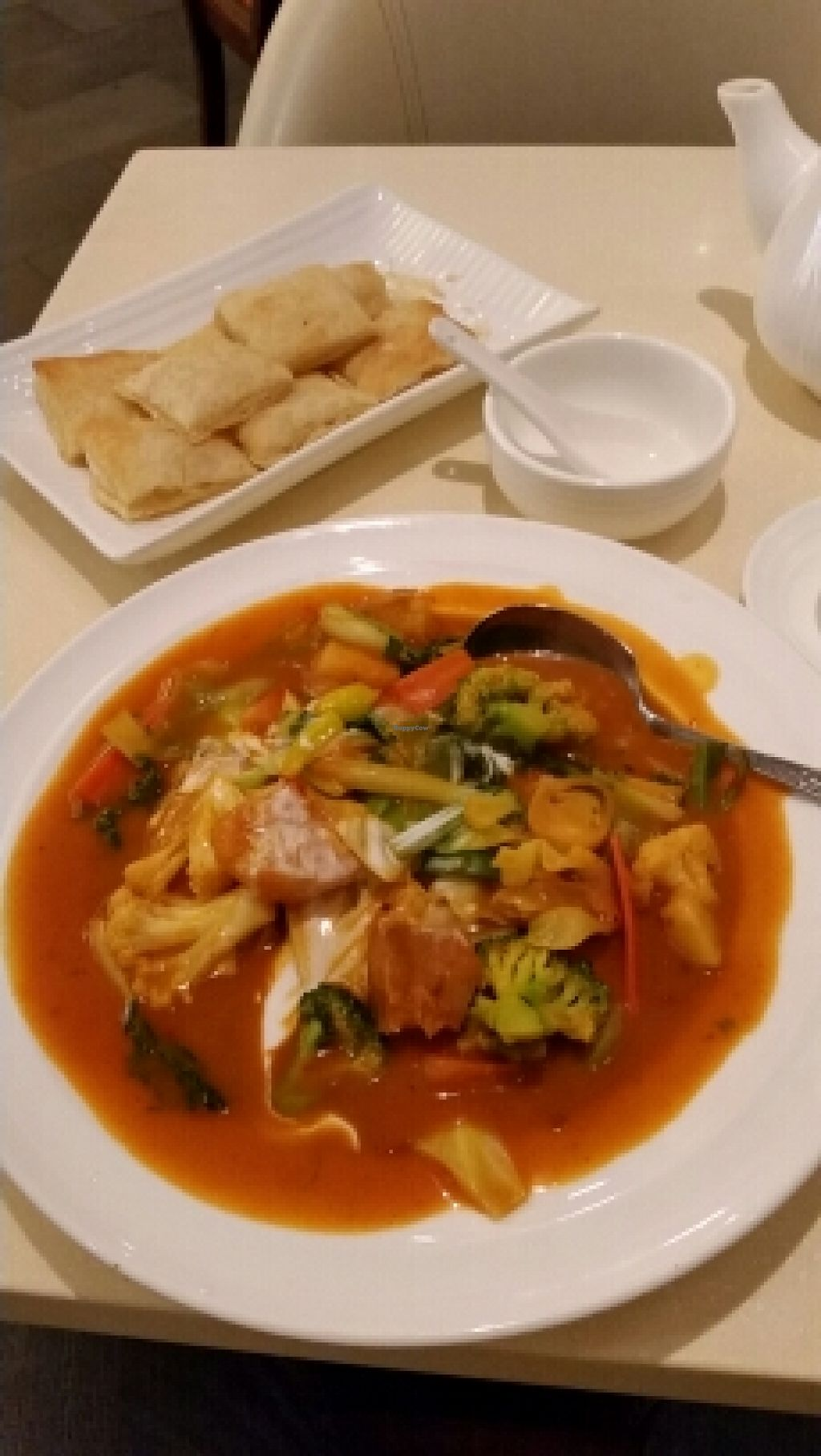 "Photo of Gaia Veggie Shop - Miramar Shopping Centre  by <a href=""/members/profile/Veggiesgood"">Veggiesgood</a> <br/>Veggies in curry sauce <br/> February 23, 2016  - <a href='/contact/abuse/image/25700/137490'>Report</a>"