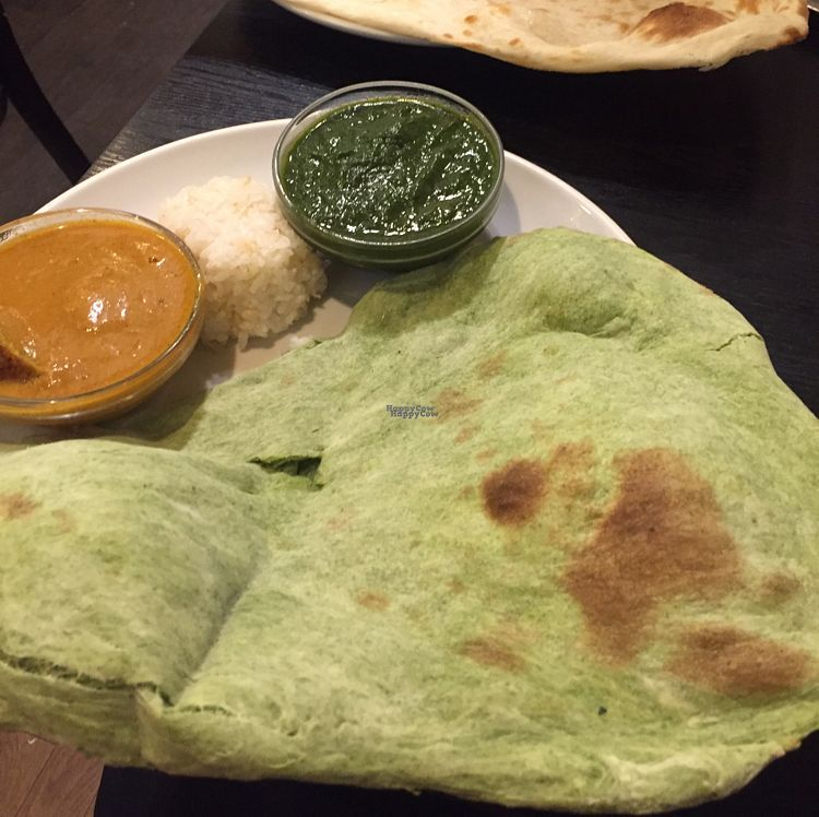 "Photo of Shama Vegetarian Indian Restaurant  by <a href=""/members/profile/TaraMurray"">TaraMurray</a> <br/>vegan naan and curry  <br/> October 16, 2016  - <a href='/contact/abuse/image/25725/182305'>Report</a>"