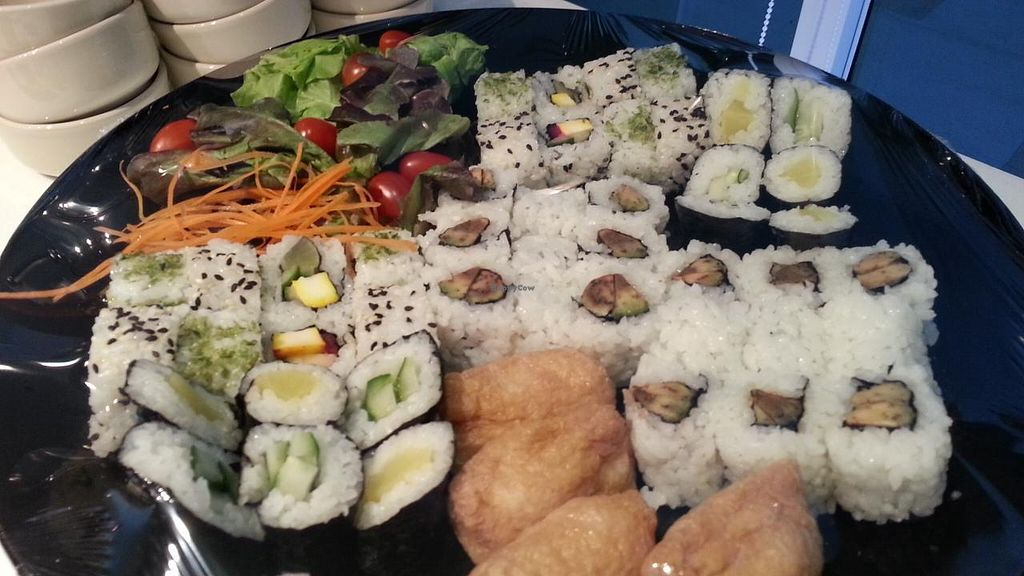 """Photo of Coco's Cafe at Lotus Hotel  by <a href=""""/members/profile/eric"""">eric</a> <br/>assorted sushi <br/> November 2, 2014  - <a href='/contact/abuse/image/25749/84362'>Report</a>"""