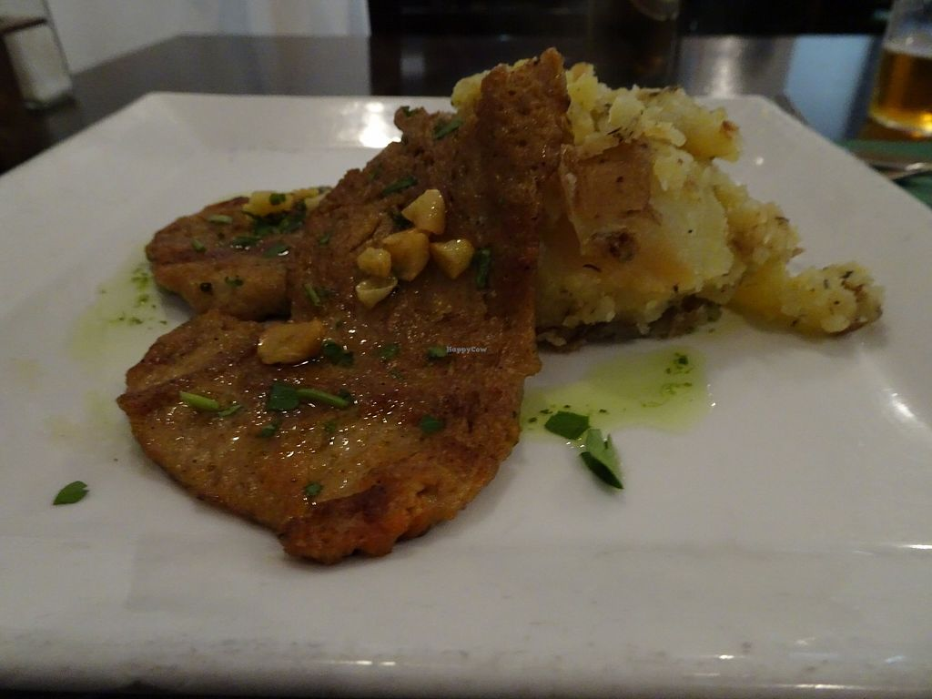 """Photo of Vegetariano El Calafate  by <a href=""""/members/profile/Fionio"""">Fionio</a> <br/>Seitan and potatoes <br/> March 27, 2018  - <a href='/contact/abuse/image/25756/376773'>Report</a>"""