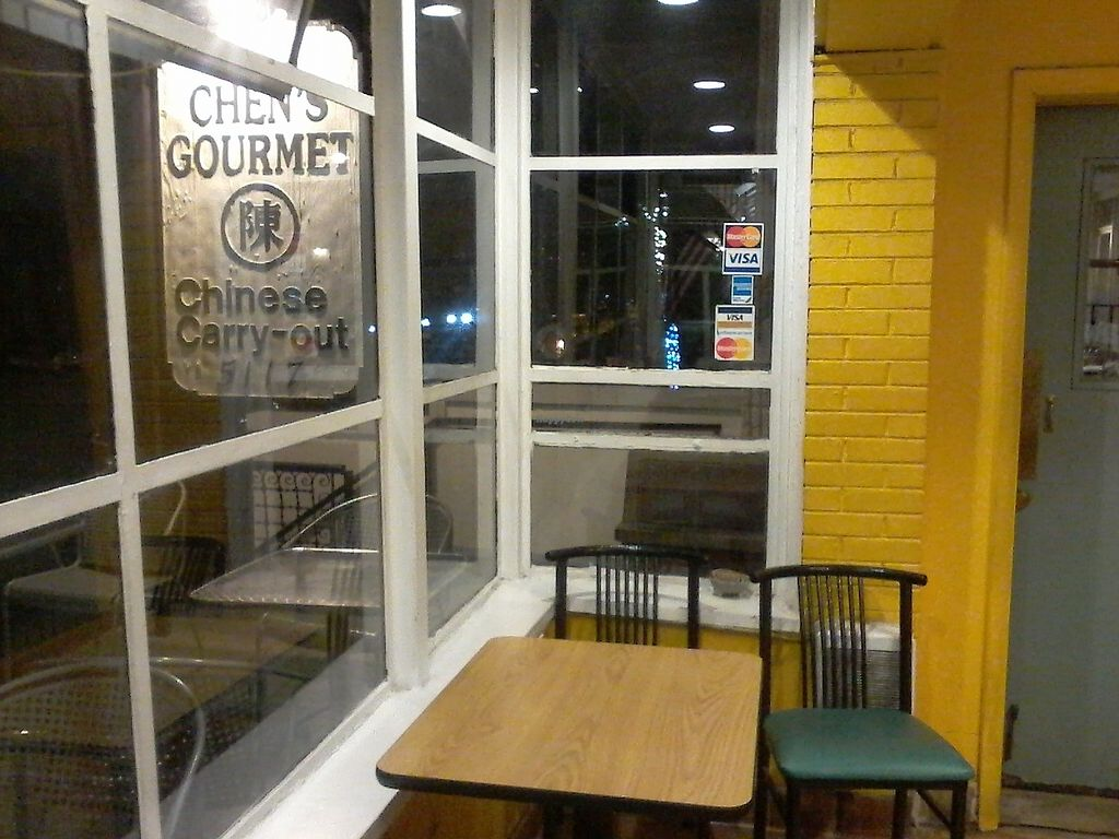 """Photo of Chen's Gourmet Restaurant  by <a href=""""/members/profile/kenvegan"""">kenvegan</a> <br/>One table  <br/> September 1, 2017  - <a href='/contact/abuse/image/25760/299561'>Report</a>"""