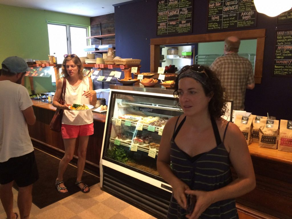 "Photo of CLOSED: Sweet Pea Natural Foods Cafe  by <a href=""/members/profile/User"">User</a> <br/>super friendly owner putting our order in to the kitchen.  <br/> August 12, 2016  - <a href='/contact/abuse/image/2583/167986'>Report</a>"