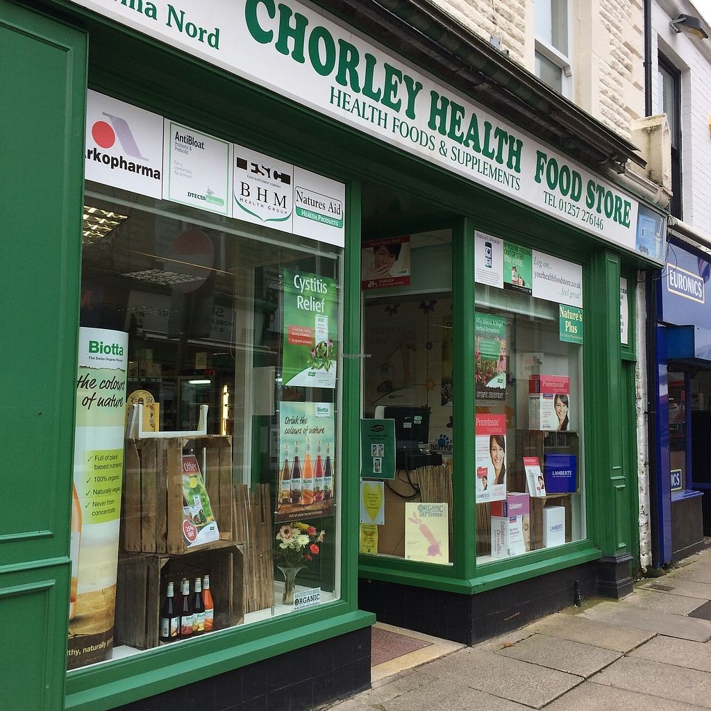 """Photo of Chorley Health Food Store  by <a href=""""/members/profile/Hoggy"""">Hoggy</a> <br/>Outside Chorley Health Food Store <br/> September 23, 2017  - <a href='/contact/abuse/image/25865/307564'>Report</a>"""