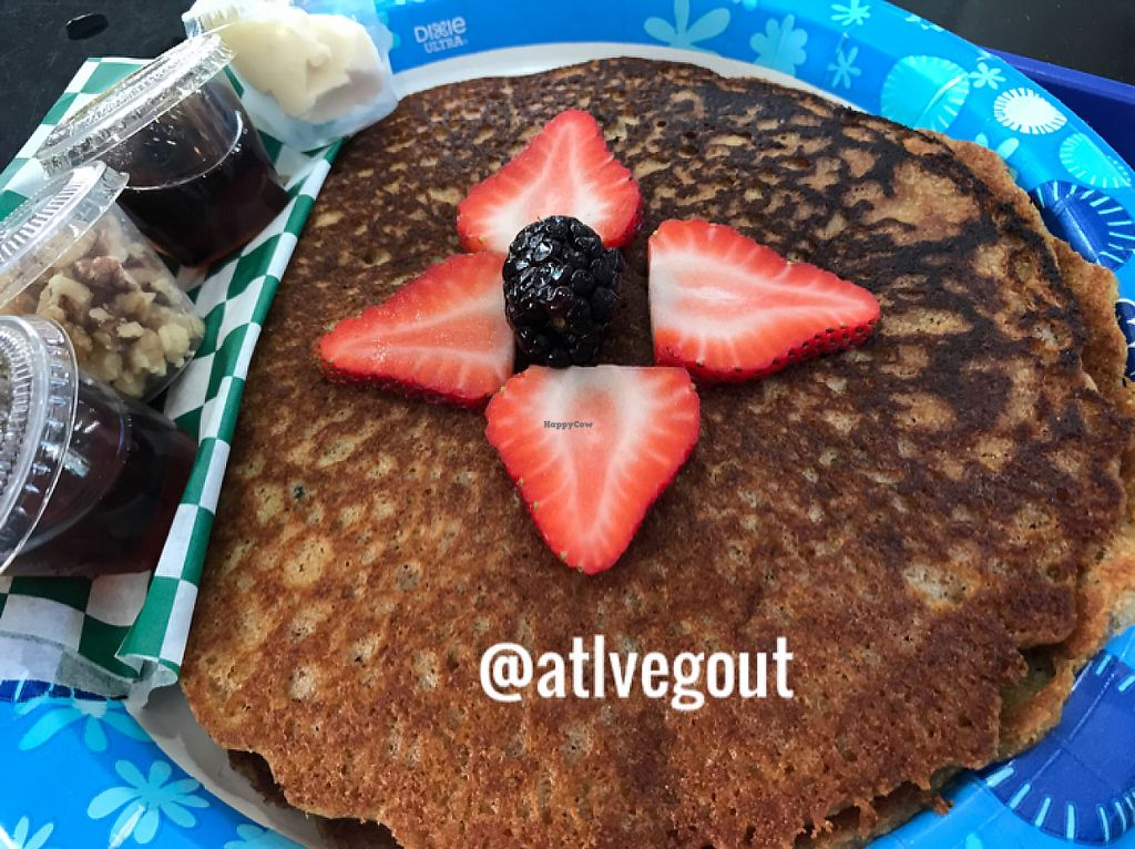 """Photo of Meals From The Heart Cafe  by <a href=""""/members/profile/calamaestra"""">calamaestra</a> <br/>blueberry pancakes  <br/> May 17, 2017  - <a href='/contact/abuse/image/25883/259490'>Report</a>"""