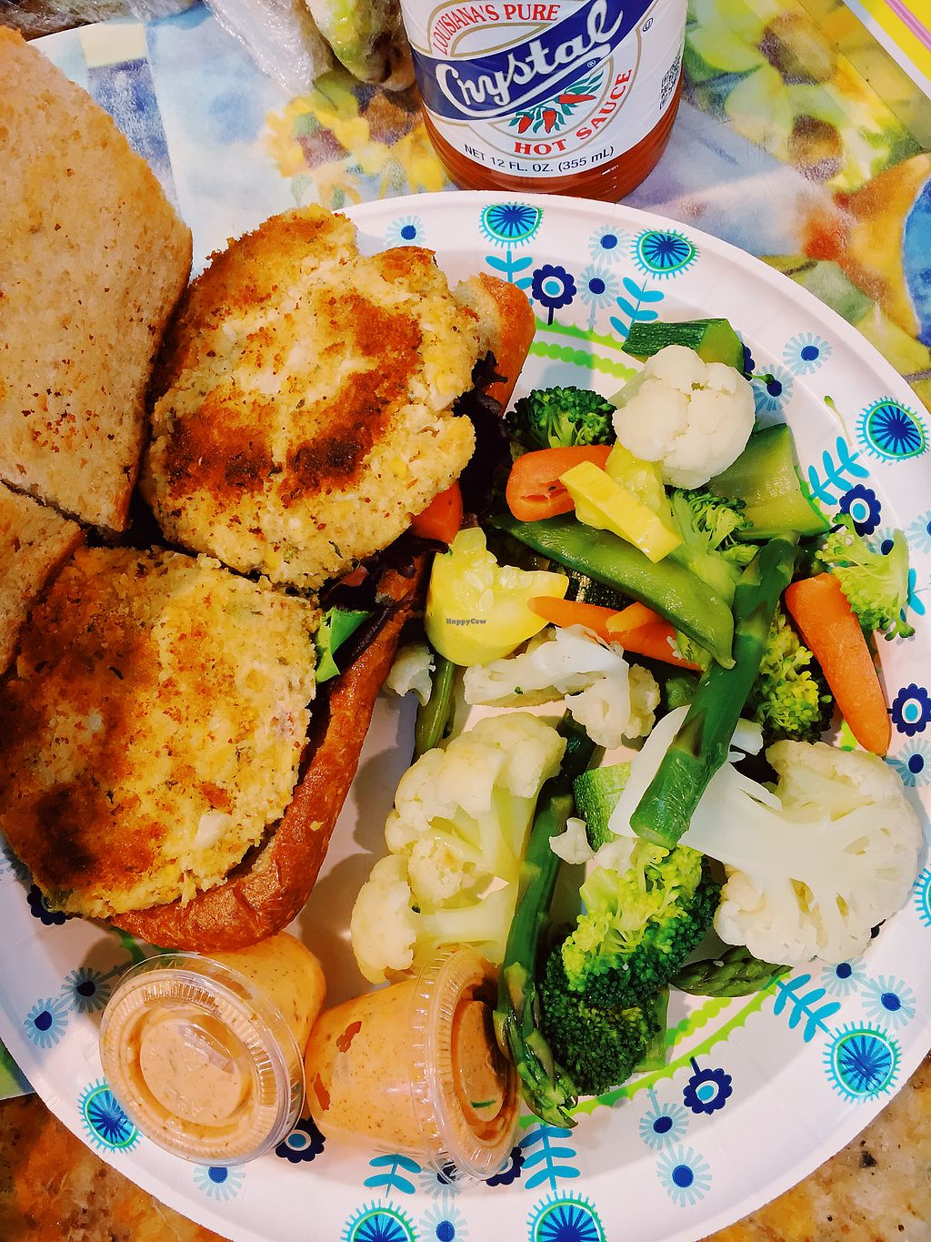 """Photo of Meals From The Heart Cafe  by <a href=""""/members/profile/terrywashere"""">terrywashere</a> <br/>vegan crab cake po boy.  <br/> March 2, 2018  - <a href='/contact/abuse/image/25883/365913'>Report</a>"""