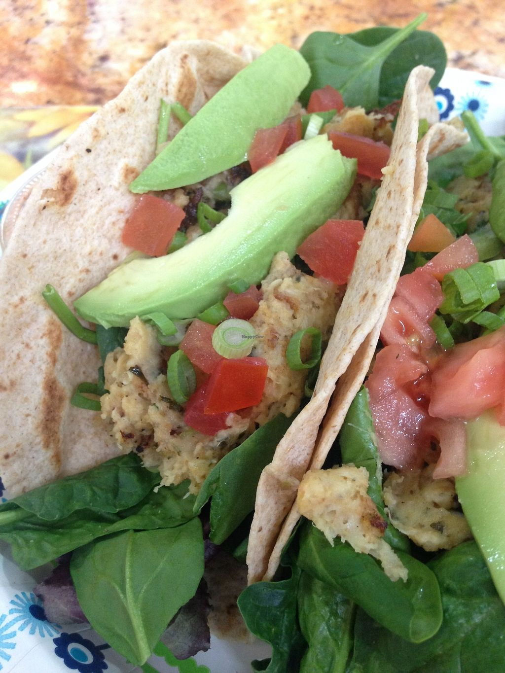 """Photo of Meals From The Heart Cafe  by <a href=""""/members/profile/BreannaWhite"""">BreannaWhite</a> <br/>vegan crab cake tacos <br/> March 27, 2018  - <a href='/contact/abuse/image/25883/376973'>Report</a>"""