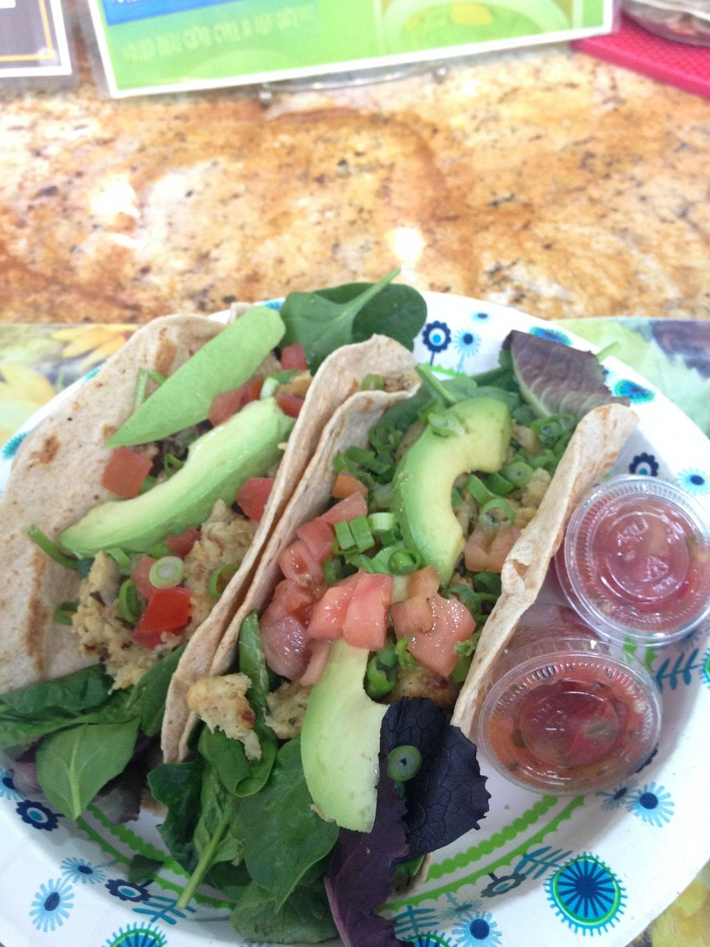 """Photo of Meals From The Heart Cafe  by <a href=""""/members/profile/BreannaWhite"""">BreannaWhite</a> <br/>vegan crab cake tacos <br/> March 27, 2018  - <a href='/contact/abuse/image/25883/376974'>Report</a>"""