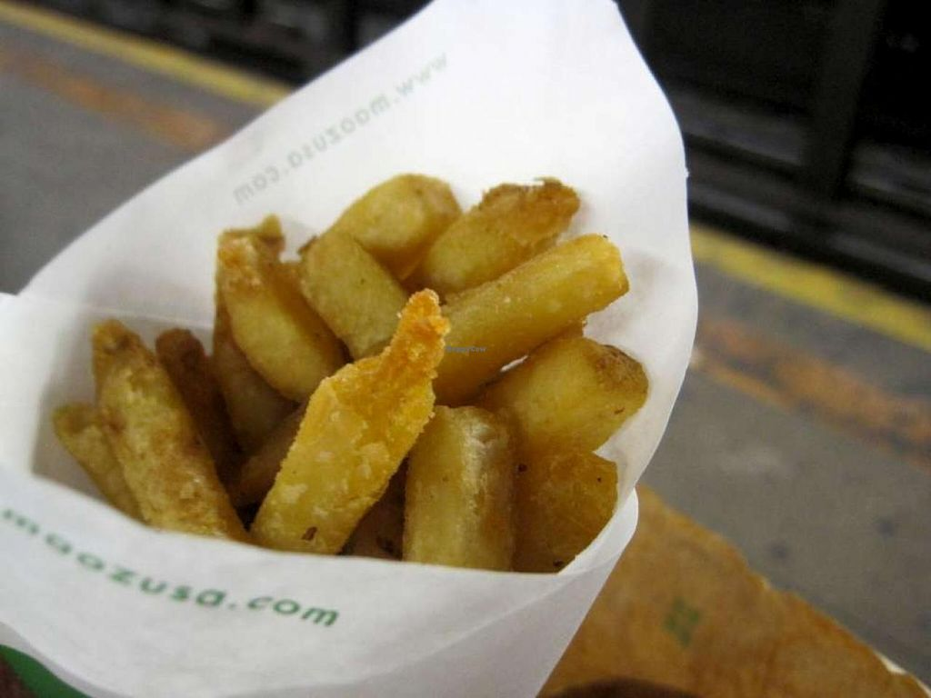 """Photo of REMOVED: Maoz Vegetarian - Times Square  by <a href=""""/members/profile/Babette"""">Babette</a> <br/>Belgian fries <br/> July 8, 2014  - <a href='/contact/abuse/image/25888/73516'>Report</a>"""