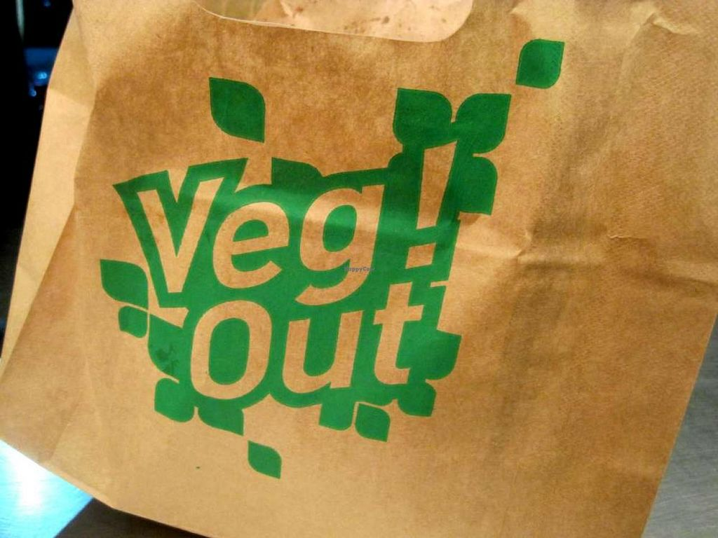 """Photo of REMOVED: Maoz Vegetarian - Times Square  by <a href=""""/members/profile/Babette"""">Babette</a> <br/>Cool brown bag to carry your food <br/> July 8, 2014  - <a href='/contact/abuse/image/25888/73517'>Report</a>"""