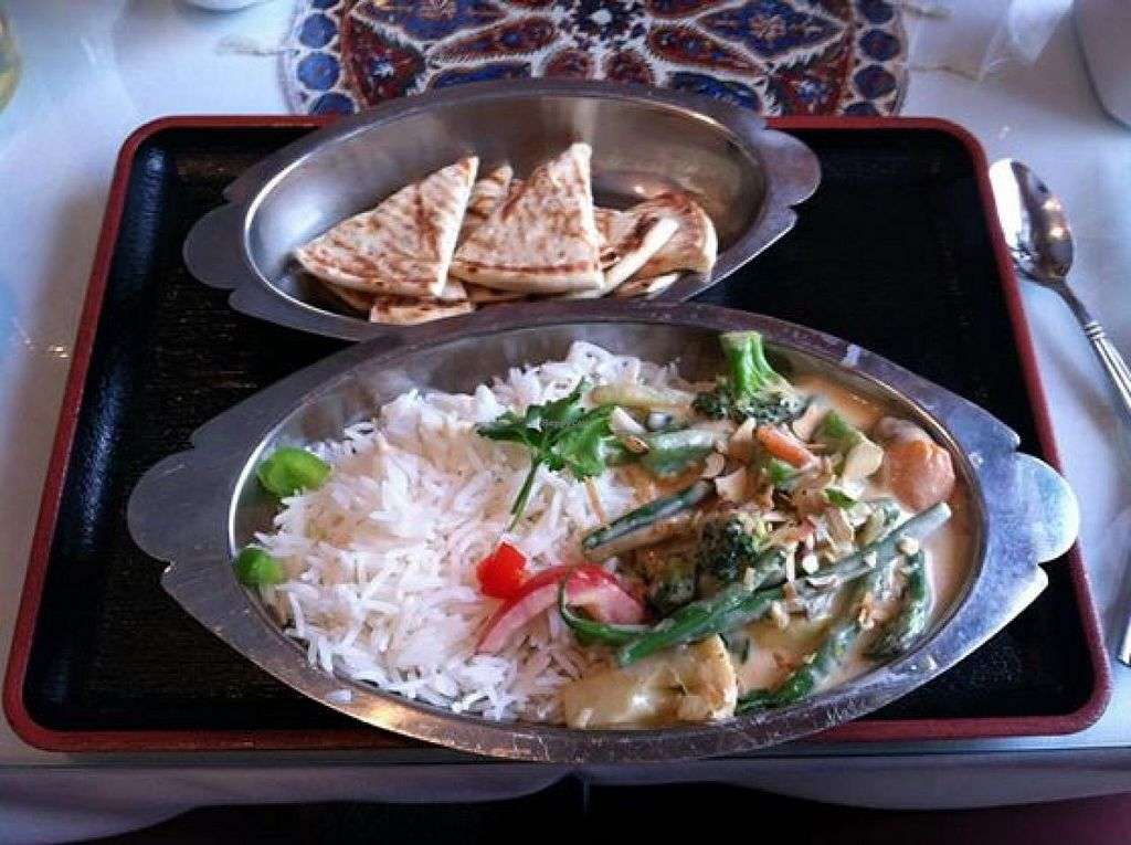 "Photo of Good Karma Restaurant  by <a href=""/members/profile/Meggie%20and%20Ben"">Meggie and Ben</a> <br/>Navratan vegetable korma (vegan) <br/> August 16, 2014  - <a href='/contact/abuse/image/25894/77210'>Report</a>"