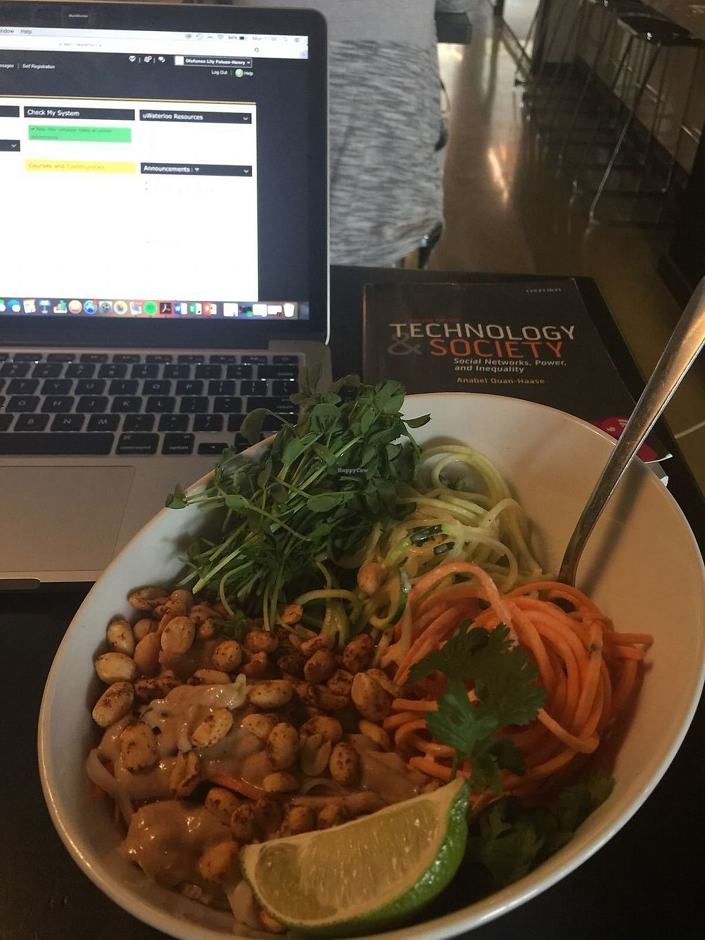"""Photo of Thrive Juice Bar  by <a href=""""/members/profile/FunsoFH"""">FunsoFH</a> <br/>Peanut pad thai salad <br/> November 22, 2017  - <a href='/contact/abuse/image/25931/328000'>Report</a>"""