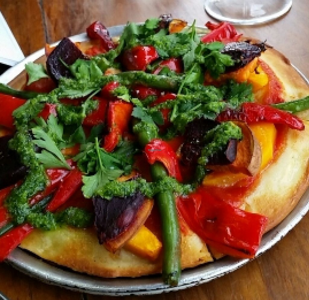 """Photo of Goodlife Modern Organic Pizza  by <a href=""""/members/profile/peacewithinthepineal"""">peacewithinthepineal</a> <br/>pesto veg pizza  <br/> March 28, 2016  - <a href='/contact/abuse/image/25942/255662'>Report</a>"""