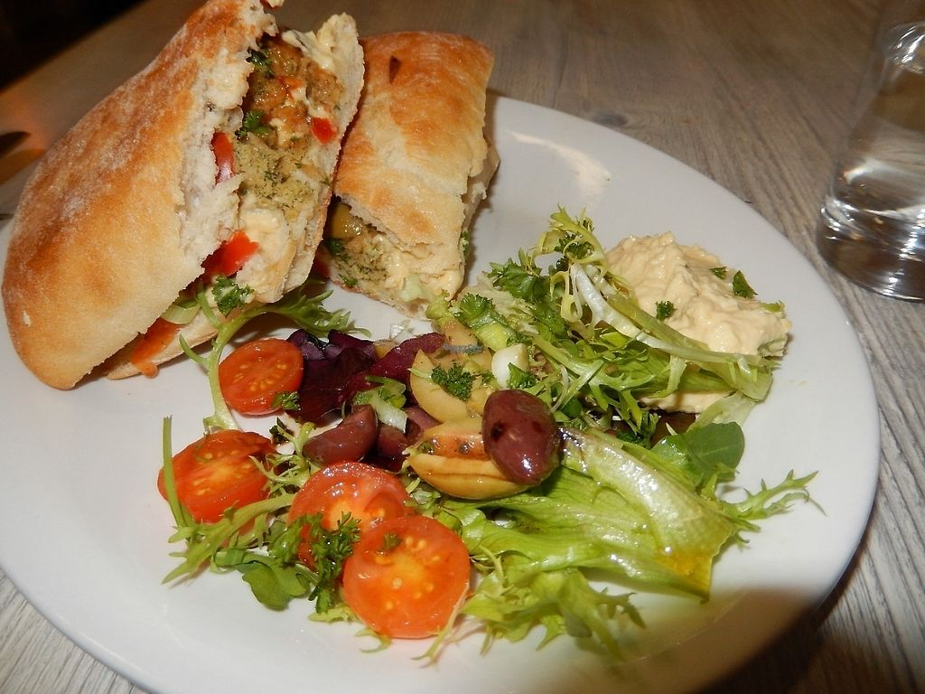 """Photo of World Peace Cafe  by <a href=""""/members/profile/CLRtraveller"""">CLRtraveller</a> <br/>falafel on toasted ciabatta <br/> January 6, 2017  - <a href='/contact/abuse/image/26028/208857'>Report</a>"""