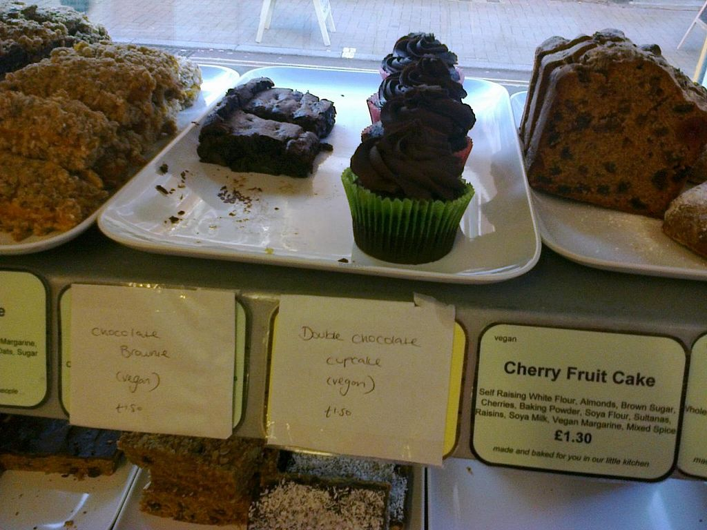 "Photo of Currant Affairs  by <a href=""/members/profile/dropscone"">dropscone</a> <br/>Vegan desserts section of deli case at Currant Affairs <br/> July 12, 2014  - <a href='/contact/abuse/image/26029/73861'>Report</a>"