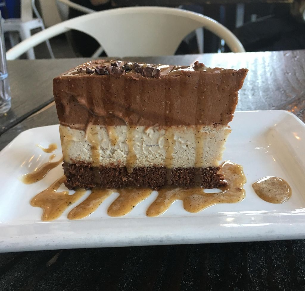 """Photo of Sage Vegan Bistro and KindKreme  by <a href=""""/members/profile/veganzinga"""">veganzinga</a> <br/>I think this was the salted caramel cheesecake <br/> December 31, 2015  - <a href='/contact/abuse/image/26073/194422'>Report</a>"""