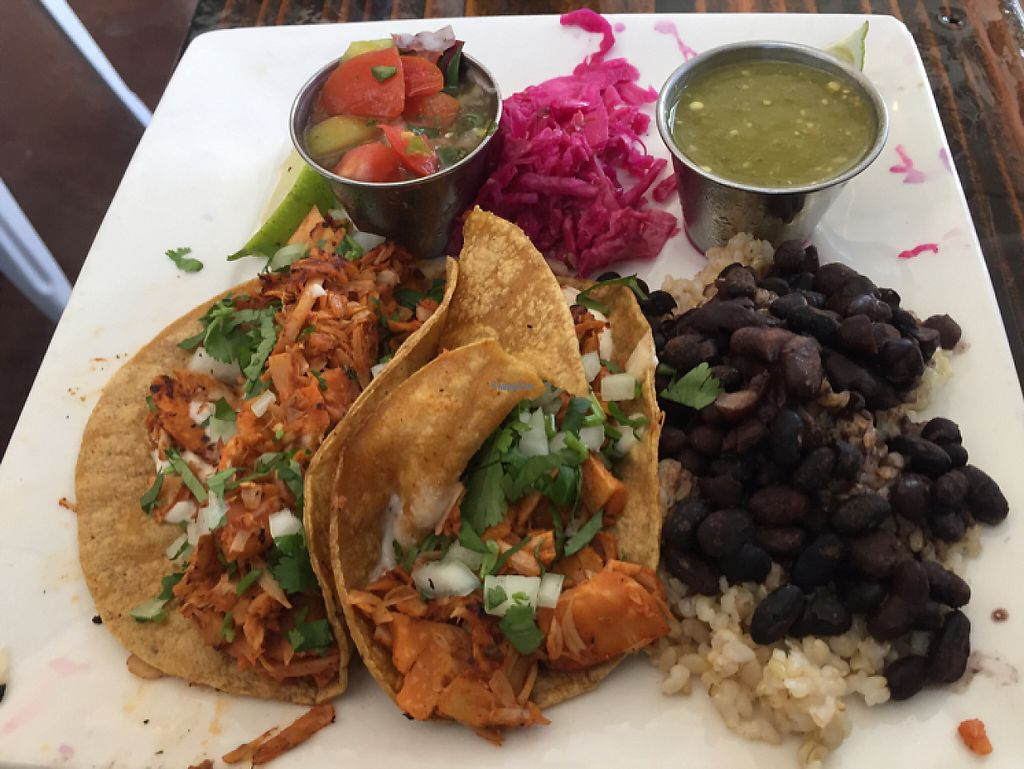 """Photo of Sage Vegan Bistro and KindKreme  by <a href=""""/members/profile/LinnDaugherty"""">LinnDaugherty</a> <br/>street tacos - with jackfruit """"meat"""" - gooood <br/> March 16, 2017  - <a href='/contact/abuse/image/26073/237101'>Report</a>"""