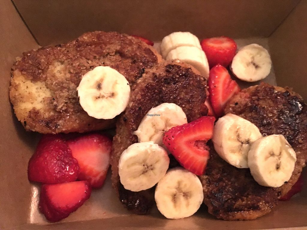 """Photo of Sage Vegan Bistro and KindKreme  by <a href=""""/members/profile/AlexandraPhillips"""">AlexandraPhillips</a> <br/>Chia French toast  <br/> July 4, 2017  - <a href='/contact/abuse/image/26073/276751'>Report</a>"""