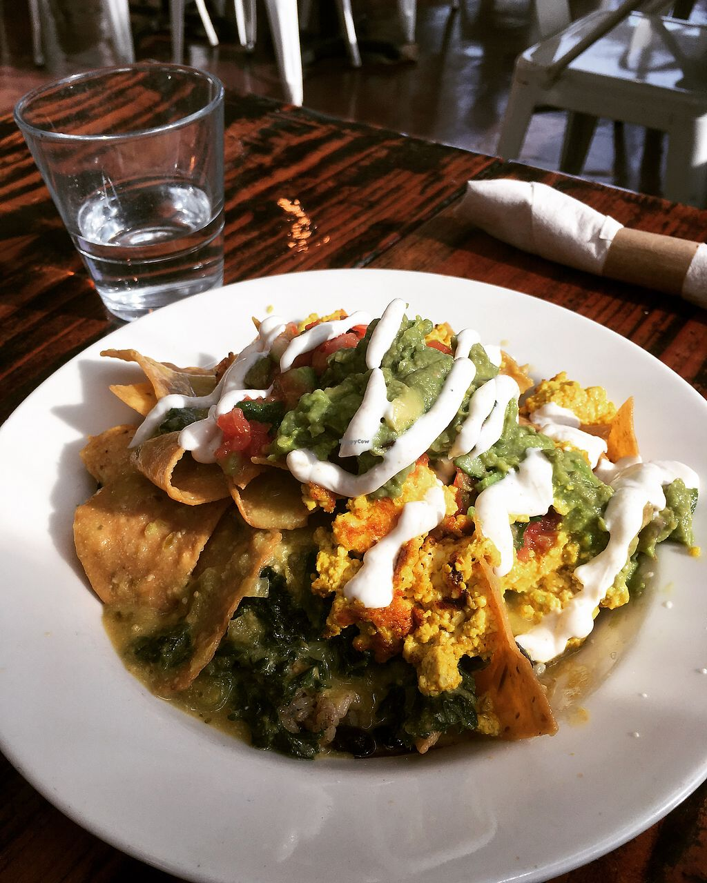 """Photo of Sage Vegan Bistro and KindKreme  by <a href=""""/members/profile/kurtanderson"""">kurtanderson</a> <br/>Vegan Chilaquiles <br/> September 5, 2017  - <a href='/contact/abuse/image/26073/301212'>Report</a>"""