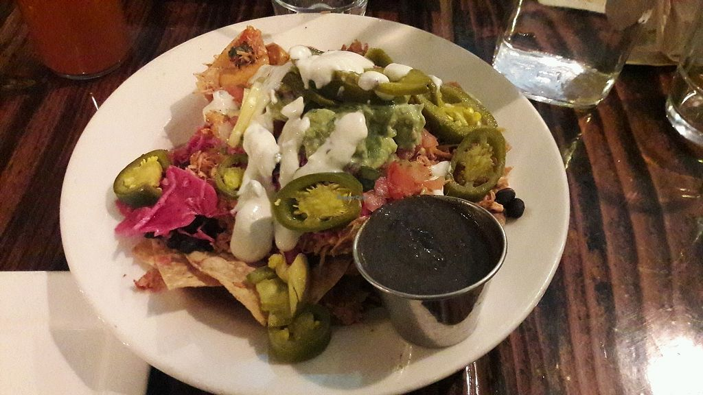 """Photo of Sage Vegan Bistro and KindKreme  by <a href=""""/members/profile/piffelina"""">piffelina</a> <br/>Vegan nachos with mole <br/> January 15, 2018  - <a href='/contact/abuse/image/26073/346797'>Report</a>"""