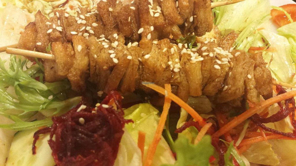 "Photo of Vegan City Fast Food  by <a href=""/members/profile/k-girl80"">k-girl80</a> <br/>soy skewers - a heavenly starter! <br/> June 11, 2015  - <a href='/contact/abuse/image/26100/105479'>Report</a>"