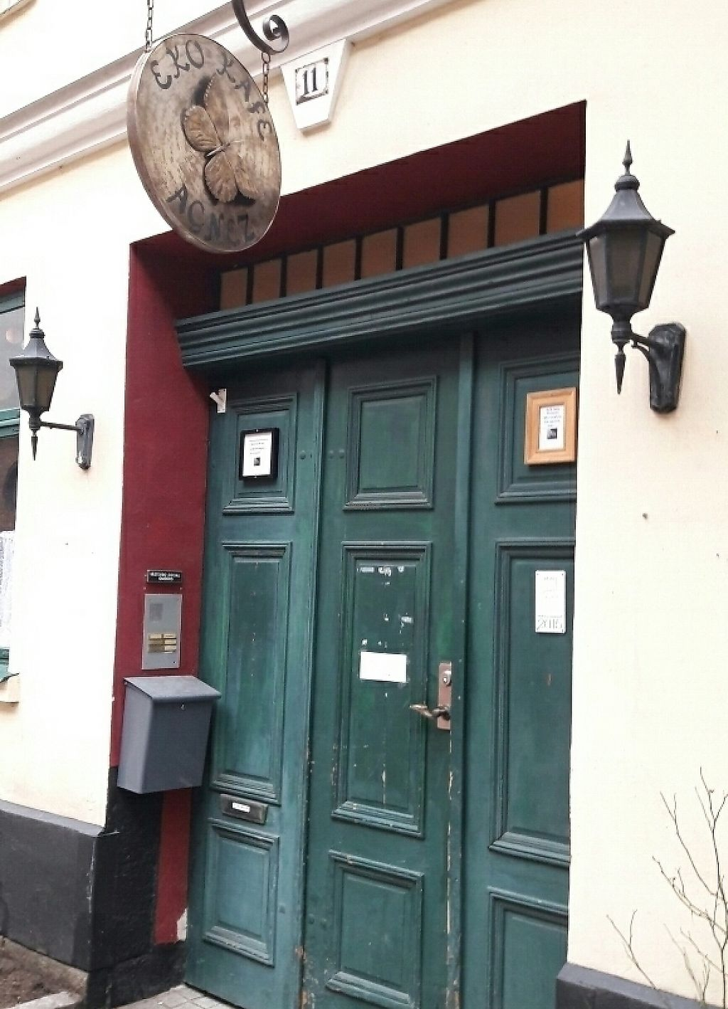 """Photo of Kafe Agnez  by <a href=""""/members/profile/piffelina"""">piffelina</a> <br/>You will find Agnez behind these doors <br/> March 25, 2017  - <a href='/contact/abuse/image/26130/244164'>Report</a>"""
