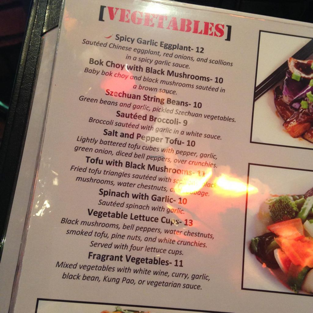 "Photo of New York New York Casino - Chin Chin  by <a href=""/members/profile/SassyRohan"">SassyRohan</a> <br/>veggie Vegas menu <br/> April 17, 2015  - <a href='/contact/abuse/image/26141/99360'>Report</a>"
