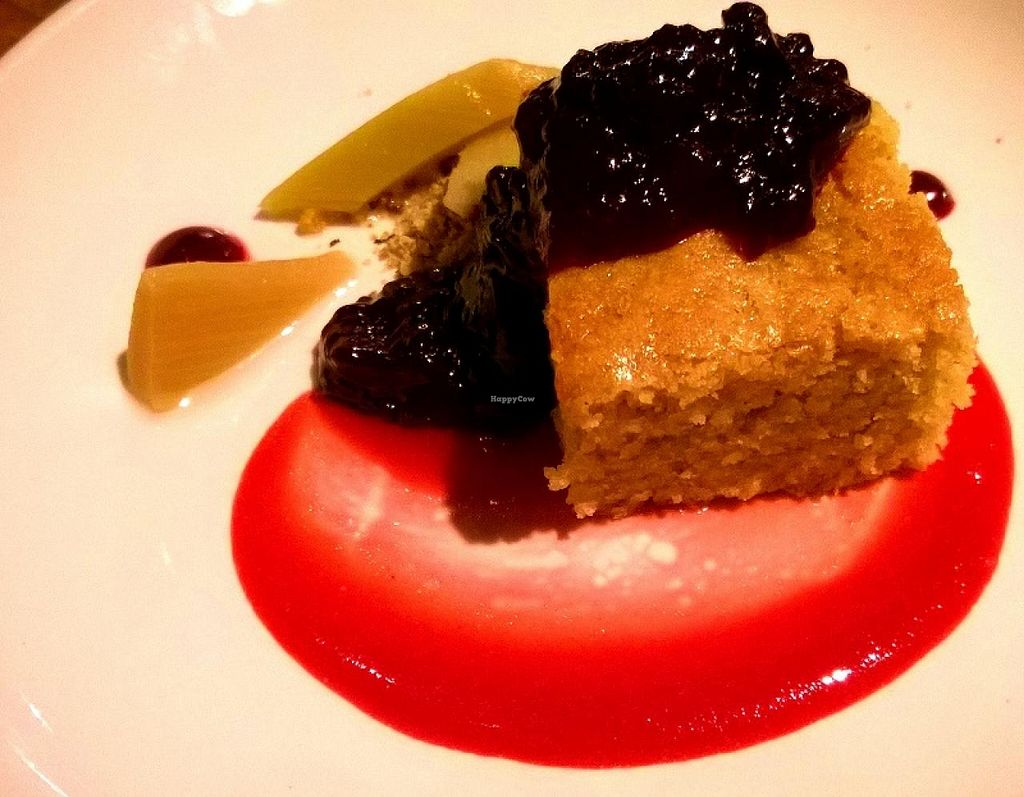 """Photo of CLOSED: Natural Selection  by <a href=""""/members/profile/ZFierce"""">ZFierce</a> <br/>4th course: Citrus & Almond Cake. Amazing flavor combinations in the orange/lime cake with zesty huckleberry and sour-tart rhubarb. So simple but it stole the show!  (Part of the amazing 'chef's table' 4-course meal which actually included 7 plate <br/> April 19, 2015  - <a href='/contact/abuse/image/26156/99653'>Report</a>"""