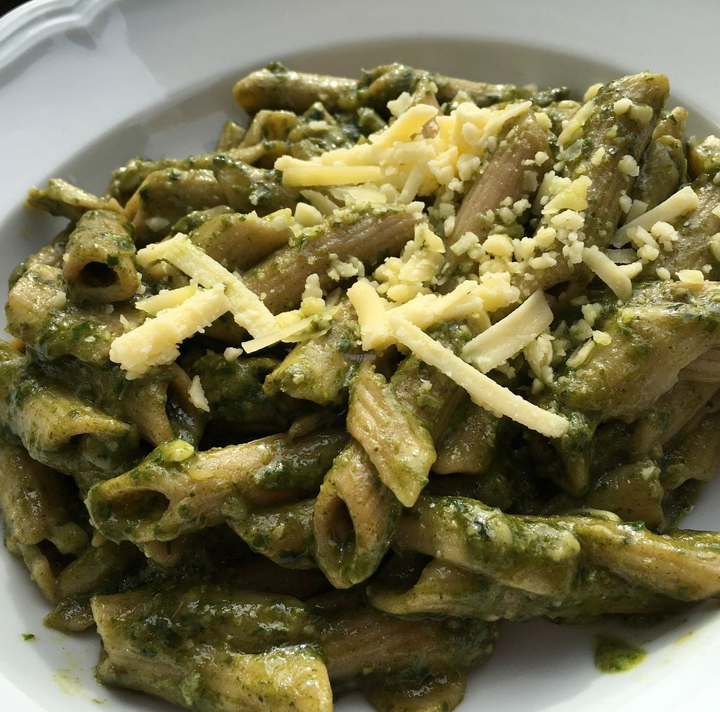 """Photo of Der kleine Vegetarier  by <a href=""""/members/profile/marky_mark"""">marky_mark</a> <br/>vegan cheese pesto penne <br/> September 28, 2016  - <a href='/contact/abuse/image/26176/178339'>Report</a>"""