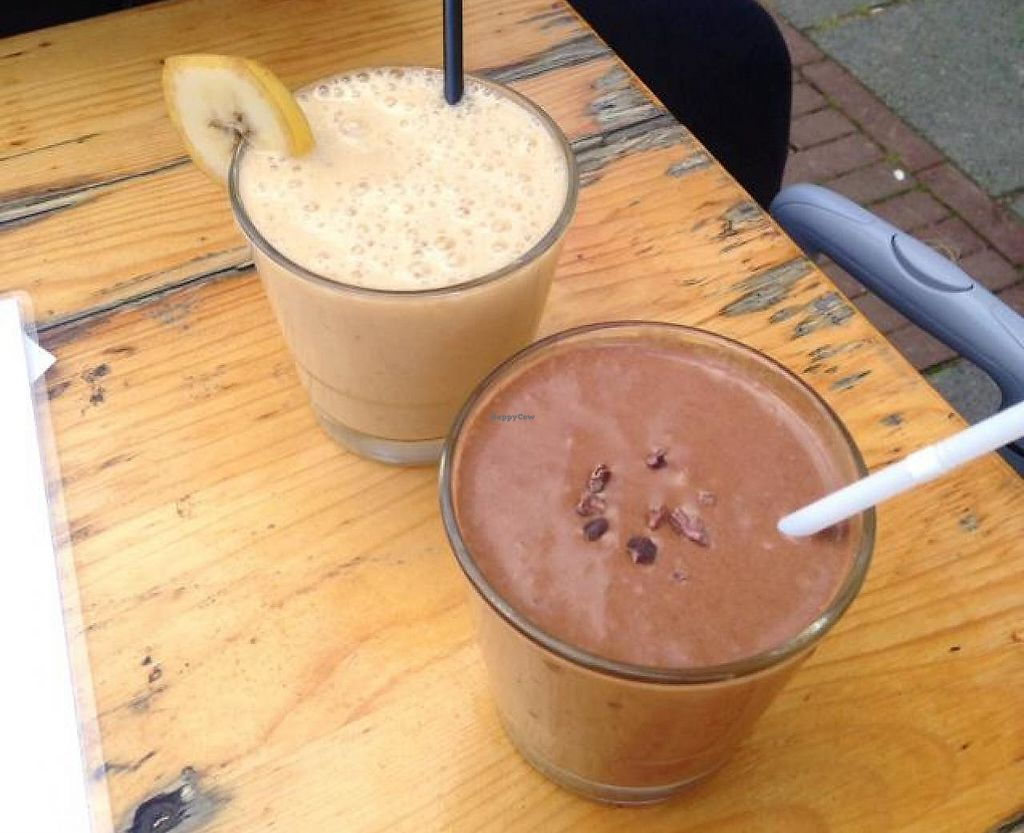 """Photo of Alchemist Garden  by <a href=""""/members/profile/tatjanabanana"""">tatjanabanana</a> <br/>delicious smoothies! <br/> October 18, 2014  - <a href='/contact/abuse/image/26197/193320'>Report</a>"""