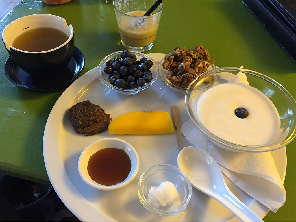 """Photo of Alchemist Garden  by <a href=""""/members/profile/LizMurphy"""">LizMurphy</a> <br/>Breakfast platter; including tea and smoothie of the day <br/> March 10, 2018  - <a href='/contact/abuse/image/26197/368926'>Report</a>"""