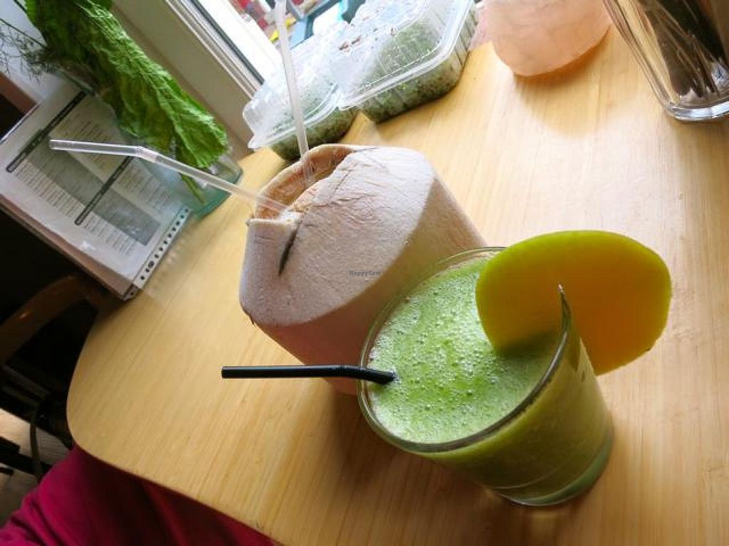 """Photo of Alchemist Garden  by <a href=""""/members/profile/Chnanis"""">Chnanis</a> <br/>Fresh Coconut and Smoothie of the House <br/> September 7, 2014  - <a href='/contact/abuse/image/26197/79240'>Report</a>"""
